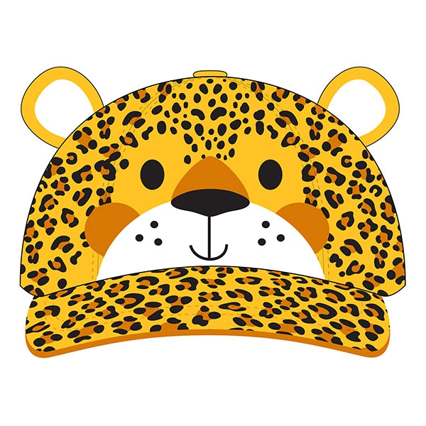 TODDLER BASEBALL HAT LEOPARD