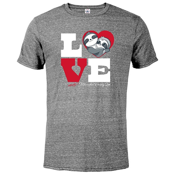 ADULT SHORT SLEEVE TEE LOVE SLOTH