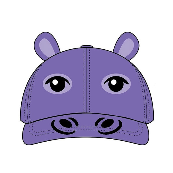 TODDLER BASEBALL HAT HIPPO PURPLE