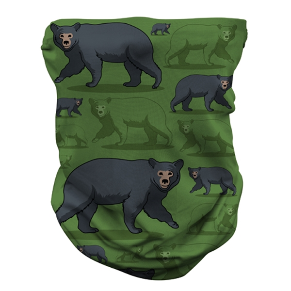 ADULT BLACK BEAR NECK GAITER