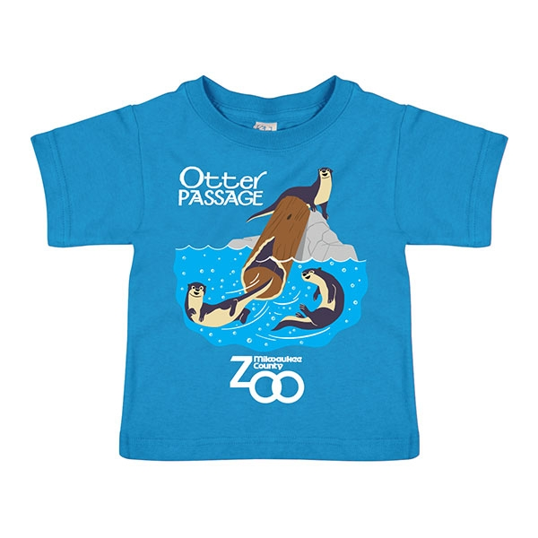 TODDLER SHORT SLEEVE RIVER OTTER PASSAGE PACIFIC BLUE