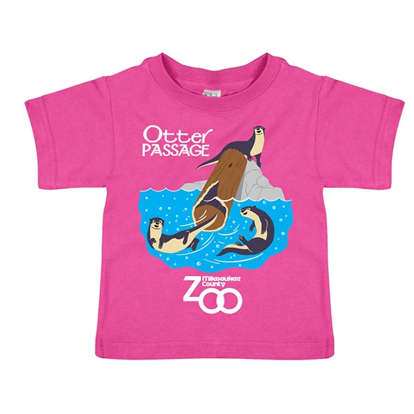 TODDLER SHORT SLEEVE RIVER OTTER PASSAGE PINK