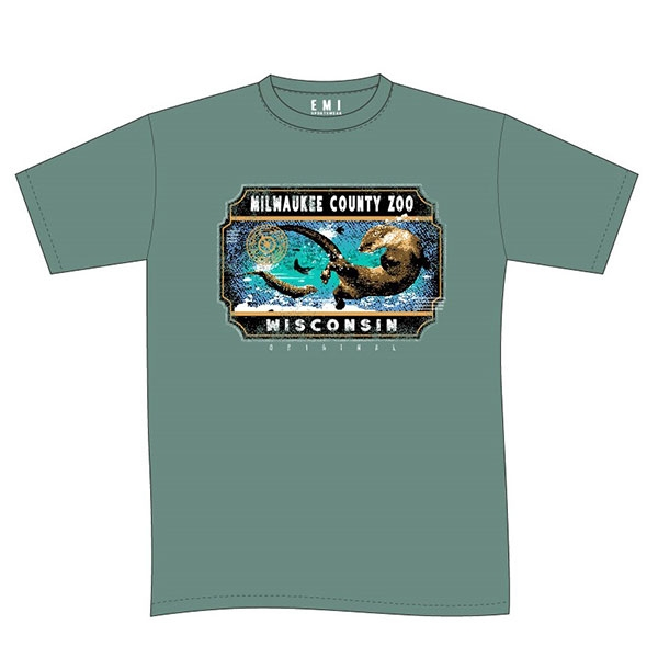 ADULT SHORT SLEEVE  FACET RIVER OTTER MIST GREEN