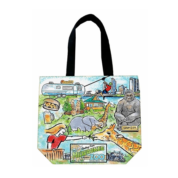 TOTE ZOO CANVAS SHOPPER